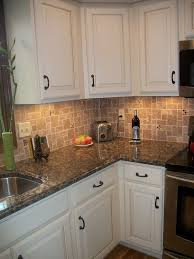 Granite Countertop Backsplash Best White Kitchen Cabinets Baltic Brown Granite Countertop Tile