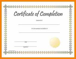 Free Printable Certificate Of Completion Template Create Free ...
