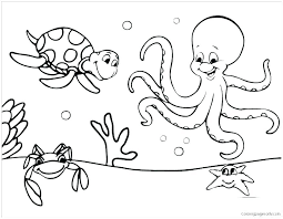 Coloring Pages For Kids Fall Disney Sea Animals Ocean Animal