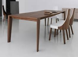 elegant image of modern walnut dining table xyqfnkh
