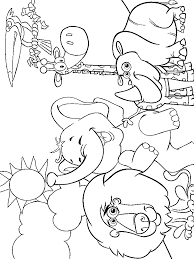 Zoo Animals Coloring Page Courtoisiengcom