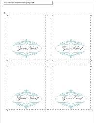 Wedding Place Card Template Free Word Rome Fontanacountryinn Com