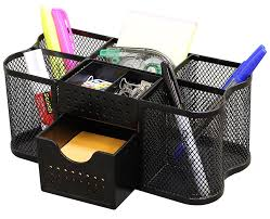 desk organizer. Interesting Organizer Amazoncom  DecoBros Desk Supplies Organizer Caddy Black Office Products With A