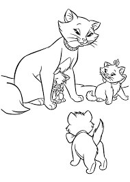 The Aristocats Marie Coloring Pages