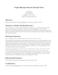Management Objectives For Resume Project Management Objective ...