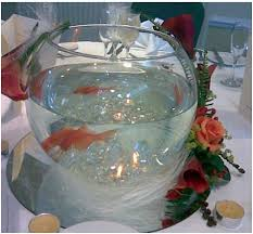 Fish Bowl Decorations For Weddings bowl with floating candles Beach Centerpiece Photos 47