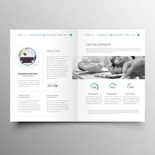Brochure Templates For It Company Clean Modern Company Brochure Template Free Vector In Adobe