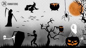 Animations Graphics Halloween Animations Kit Stock Motion Graphics Motion Array