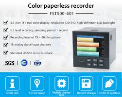 Fst500 601 Multi Channel Use Paperless Color Chart Pressure Temperature Recorder