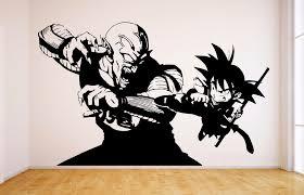 goku vs piccolo vinyl wall decal dragon ball dbz anime wall art sticker manga
