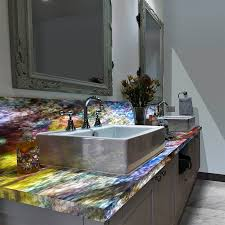 backlit countertops design and installation stone and crystalline palm beach fl