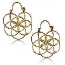 br dangle plug hoop earring worn with plugs or tunnels
