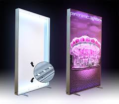 free standing double sided or wall mounted light box kd180 frameless fabric light