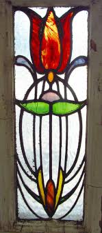 Authentic Art Nouveau Stained Glass Designs In Full Color Antique Stained Glass Window Stunning Eight Color Art