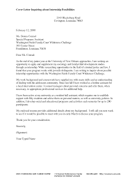 Cover Letter Examples For Internships In Criminal Justice