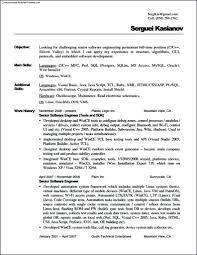 Plain Text Resume Template Resume Sample Plain Text Resume Format Template Free Samples