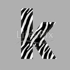 zebra font lower case k 3d ilration royalty free stock photos ilrations and 3d letters fonts
