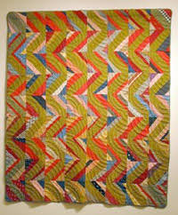 About the Collection — San Jose Museum of Quilts & Textiles & Unknown maker, Streak of Lightning, c. 1920 Cotton 79