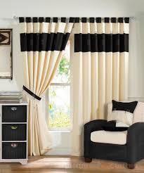 black ivory curtains
