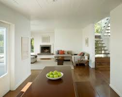 Interior design white walls and black chairs