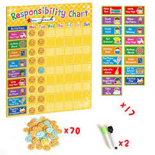Home Decor Chart Behavior Reward Chart Multiple Kids Family