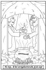 Kleurplaten Oude Testament Jacob En Esau Clipart Geloven Is Leuk