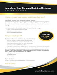 Personal Trainer Business Plans Components Of A Good Business Plan Personal Trainer Business Plans