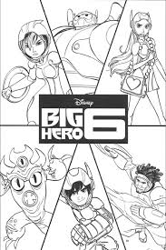 Disney Movie Big Hero 6 Colouring Pages Free To Print
