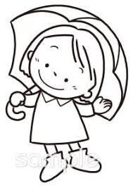 女の子 傘 6月の壁面飾りイラストなら小学校幼稚園向け保育園向け
