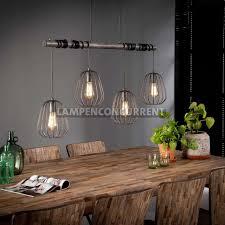 Landelijke Draadlamp 4 Lichts Oud Zilver