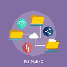 File Sharing System Design File Sharing Conceptual Illustration Design Download Free