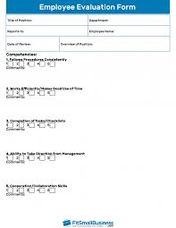 employee evaluation feedback employee evaluation forms performance review examples feedback