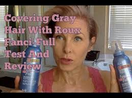 Covering Gray Hair Temporary With Roux Fanci Full Test And Review