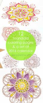 free printables 12 gorgeous mandala coloring pages plus a set of color your