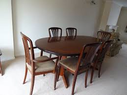 extending oval dining table with 6 chairs made by william lawrence in tilehurst berkshire gumtree