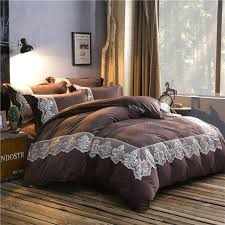 warm bed sheets new fleece fabric bedding set red coffee bed sheets lace duvet cover queen winter quilt sets king warm bed linen warm bed sheets uk