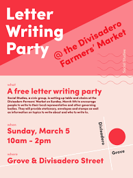 How To Write Flyers Activist Group Social Studies Launches With Letter Writing Party