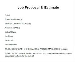 Sample Job Proposal Template 12 Free Documents Download Pdf Doc