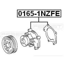 Febest 2006 Toyota Yaris - Engine Water Pump FEBEST # 0165-1NZFE OEM ...
