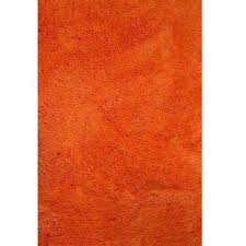 micro fiber orange 5 ft x 7 ft rectangle area rug