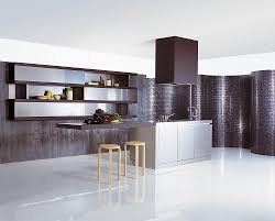 Furniture For Small Kitchen Creative Small Kitchen Ideas With Silver Furniture And Brown Wall