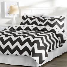 alluring queen size bedding sets for bedroom decoration ideas black and white chevron queen size