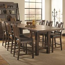 coaster padima pc counter height dining table set  distressed