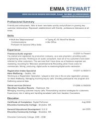 Audio Resume Best Audio Engineer Resumes Resumehelp