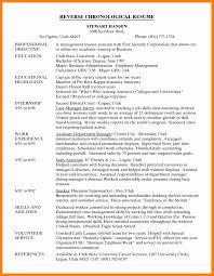 Stunning Reverse Chronological Resume Photos Simple Resume