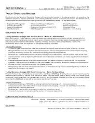 Facility Manager Sample Resume