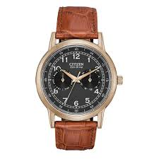 men s citizen eco drive® rose tone stainless steel watch men s citizen eco drive® rose tone stainless steel watch black dial model ao9003 08e citizen zales