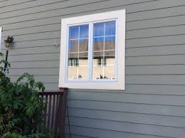after exterior trim carpentry by monk s home improvements after window trim replacement
