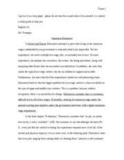 rhetorical analysis nickel and dimed megan bengtson mrs holton  nickel and dimed summary 5 pages essay 2 final draft