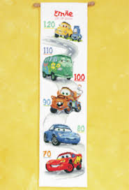 Details About Disneys Cars Height Chart Counted Cross Stitch Kit